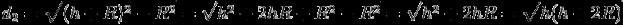 d_2 = \\sqrt(h(h+2R))